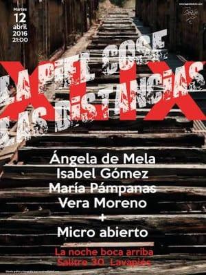59º 'La piel cose distancias' | 12/04/2016 | La Noche Boca Arriba | Lavapiés - Madrid | Cartel José Naveiras García