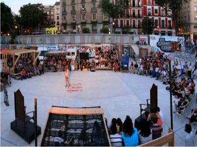 El Campo de Cebada | Actuación teatral | Verano 2015 | Barrio de La Latina | Distrito Centro | Madrid