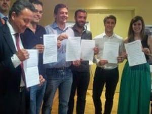 Representantes Coordinadora de Asociaciones de Vecinos Madrid Centro   Ayuntamiento de Madrid   18/05/2015