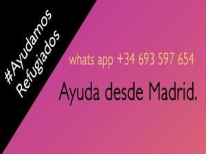 Ayuda a refugiados de Grecia desde Madrid | Grupo Whats app +34 693 597 654 | #AyudamosRefugiados