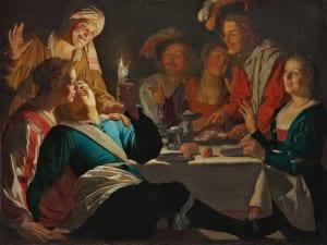 'Caravaggio y los pintores del norte'   Museo Thyssen-Bornemisza   Madrid   Del 21/06 al 18/09/2016   Alegre compañía (1622)   Gerard Van Honthorst