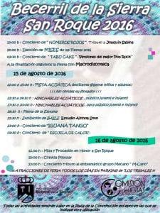 Fiestas de San Roque 2016   Becerril de la Sierra   Comunidad de Madrid   13, 14, 15 y 16 de agosto de 2016   Programa 2