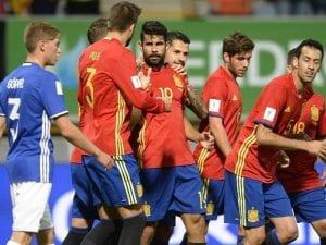Selección de España de Fútbol goleó por 8-0 a la Selección de Liechtenstein de Fútbol | 05/09/2016 | 1ª jornada clasificatoria Mundial de Rusia 2018