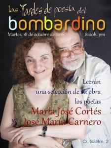 Las Tardes de Poesía del Bombardino   Recital Poético   María José Cortés y José María Carnero   Calle del Salitre 2   Lavapiés - Madrid   18/10/2016