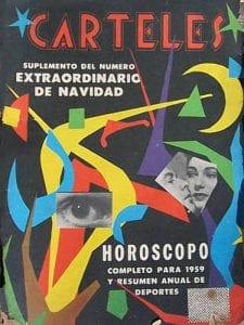 En esto llegó Fidel, se acabó la diversión | Portada de la revista Carteles | Diciembre 1958 | Cuba