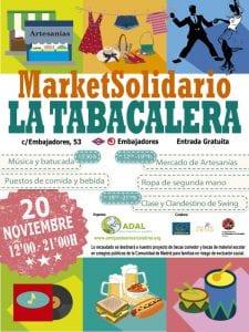 Market Solidario La Tabacalera | ADAL Otro mundo es posible | Lavapiés - Madrid | 20/11/2016 | Cartel