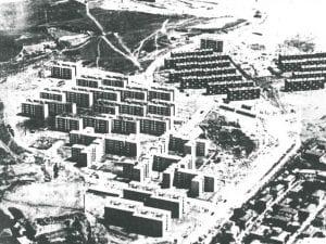 Distrito de Moratalaz | Madrid | Vista aérea hacia 1961