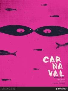 Carnaval de Madrid 201  Del 24 de febrero al 1 de marzo de 2017   San Blas-Canillejas   Madrid   Cartel