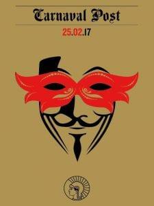 'Carnaval Post' | Baile de Máscaras 2017 | Círculo de Bellas Artes | Madrid | 25/02/17 | Cartel | Imagen Rafa Celda