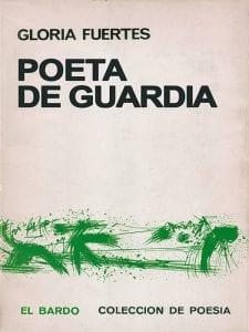 'Poeta de guardia' | Gloria Fuertes | El bardo | Colección de poesía | Barcelona | España | 1968 | Portada