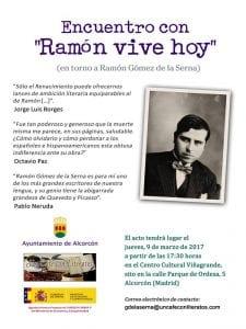 Encuentro con 'Ramón vive hoy' | En torno a Ramón Gómez de la Serna | Ayuntamiento de Alcorcón - Un Café con Literatos | CC Viñagrande | Alcorcón (Comunidad de Madrid) | 09/03/2017