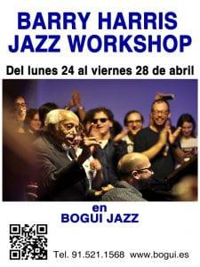 Programación | Conciertos Bogui Jazz | Abril 2017 | Chueca - Centro - Madrid | Barry Harris Jazz Workshop in Madrid