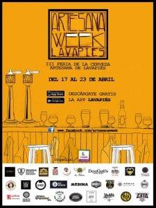 Artesana Week Lavapiés   3ª Feria de la Cerveza Artesana de Lavapiés   Del 17 al 23 de abril de 2017   Lavapiés - Centro - Madrid   Cartel