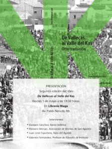 'De Vallecas al Valle del Kas. Otra Transición' | Sixto Rodríguez Leal | Radio Vallekas | Madrid, 2017 | Presentación Librería Muga | 05/05/2017 | Cartel
