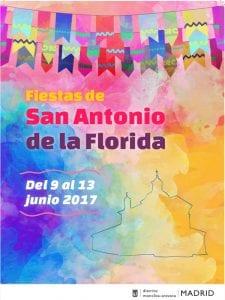 Fiestas de San Antonio de la Florida 2017 | Parque de la Bombilla | Moncloa-Aravaca | Madrid | 09 al 13/06/2017 | Cartel