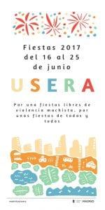 Fiestas de Usera 2017 | 16 al 25 de junio de 2017 | Usera - Madrid | Cartel
