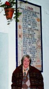 Gloria Fuertes   Poeta y escritora   Madrid, 28/07/1917 - 27/11/1998     El Pimpi (Málaga)