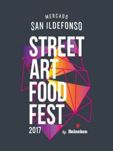Street Art Food Fest 2017 | Mercado San Ildefonso | Barrio de Malasaña | Centro - Madrid | 03 - 27/07/2017 | Logo
