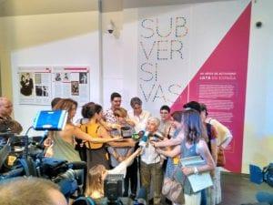 'Subversivas: 40 años de activismo LGTB en España' | CentroCentro Cibeles | Madrid | 15/06 - 01/10/2017 | Boti G. Rodrigo en la presentación