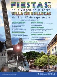 Fiestas de la Virgen de la Torre 2017   Villa de Vallecas   Madrid   08-17/09/2017   Cartel programación destacada