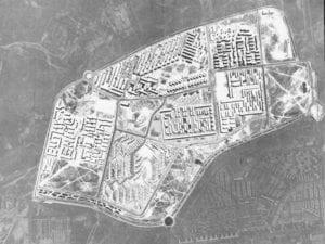 Gran San Blas   Plan de Urgencia Social de Madrid 1957   Obra Sindical del Hogar   Vista aérea años 60