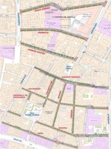 Plan de remodelación del barrio de Chueca incluye 11 calles | Plano de actuaciones