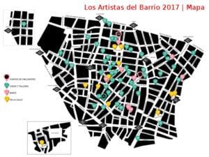 11ª Los Artistas del Barrio en Malasaña y Chueca | 07 y 08/10/2017 | Madrid | Mapa