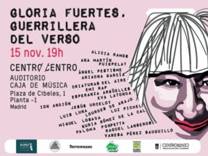 Gloria Fuertes, Guerrillera del Verso | Auditorio Caja de Música | CentroCentro Cibeles | Madrid | 15/11/2017 | Cartel