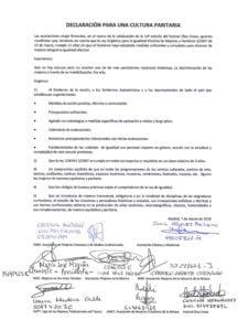 Declaración para una Cultura Paritaria   Asociaciones de Mujeres   Madrid   07/03/2018   Documento firmado