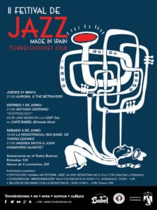 2º Festival de Jazz Made in Spain | 31/05 al 02/06/2018 | Torrelodones | Comunidad de Madrid | Cartel