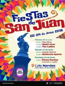 Fiestas de San Juan 2018 | Retiro | Madrid | 21-24/06/2018 | Cartel Retiro Norte