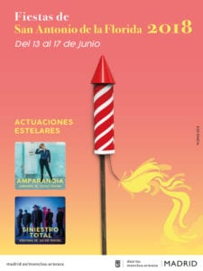 Fiestas San Antonio de la Florida 2018 | Moncloa-Aravaca | Madrid | 13-17/06/2018 | Cartel