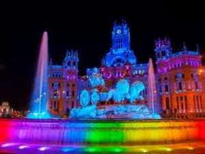 Madrid Orgullo 2018 | Fiesta del Orgullo LGBT | 28/06-08/07/2018 | Barrio de Chueca | Madrid | Palacio y fuente de Cibeles