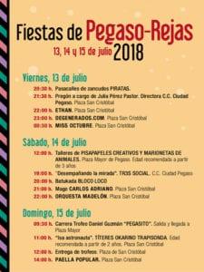 Fiestas de Pegaso-Rejas 2018 | San Blas-Canillejas | Madrid | 13-15/07/2018 | Programa