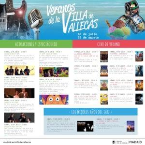 Veranos de la Villa de Vallecas 2018 | Madrid | Del 06/07 al 25/08/2018 | Programa