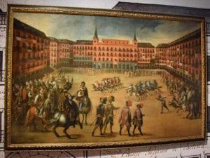 Exposición La Plaza Mayor. Retrato y máscara de Madrid   400 años   Museo de Historia de Madrid   Mayo - Noviembre - 2018   Fiesta en la Plaza Mayor de Madrid (Juan de la Corte)