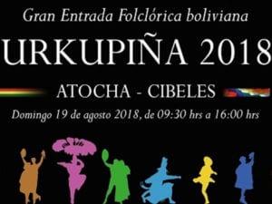 Gran Entrada Folklórica Boliviana | 19/08/2018 | Paseo del Prado | Madrid | Cartel