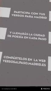 'Versos al paso' en los pasos de cebra de Madrid | Iniciativa poética del Ayuntamiento de Madrid y Boa Mistura | Participa con tus propios versos