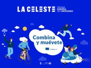 Semana Europea de la Movilidad 2018   La Celeste   'Combina y muévete'   Madrid   14-23/09/2018   Cartel