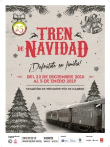 Navidad en el Museo del Ferrocarril de Madrid   22/12/2018 - 05/01/2019   Delicias   Arganzuela   Madrid   Tren de Navidad 2018-2019   Cartel