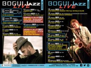 Conciertos enero 2019 en Bogui Jazz | Madrid | Cartel