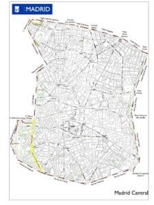 Madrid Central | Ayuntamiento de Madrid | Noviembre 2018 | Zona de bajas emisiones | Plano