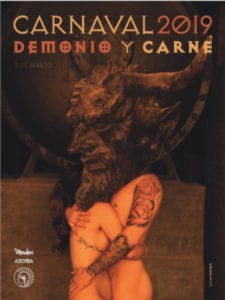 Demonio y Carne | Carnaval 2019 | Círculo de Bellas Artes | 02/03/2019 | Madrid | Cartel de Joaquín Gallego | Foto del cartel de Joan Fontcuberta