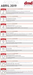 Agenda DMD Madrid Abril 2019   Derecho a Morir Dignamente   Infografía