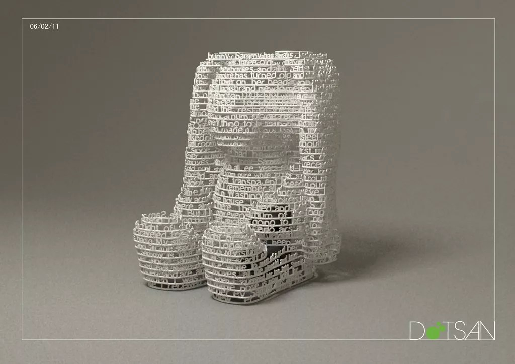 Extraordinary 3d Printed Objects Made With Text