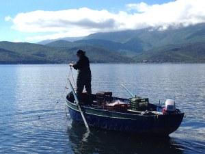 Lake Prespa Fisherman