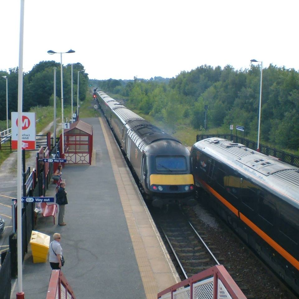 Grand Central train at Monkhill station, Pontefract.