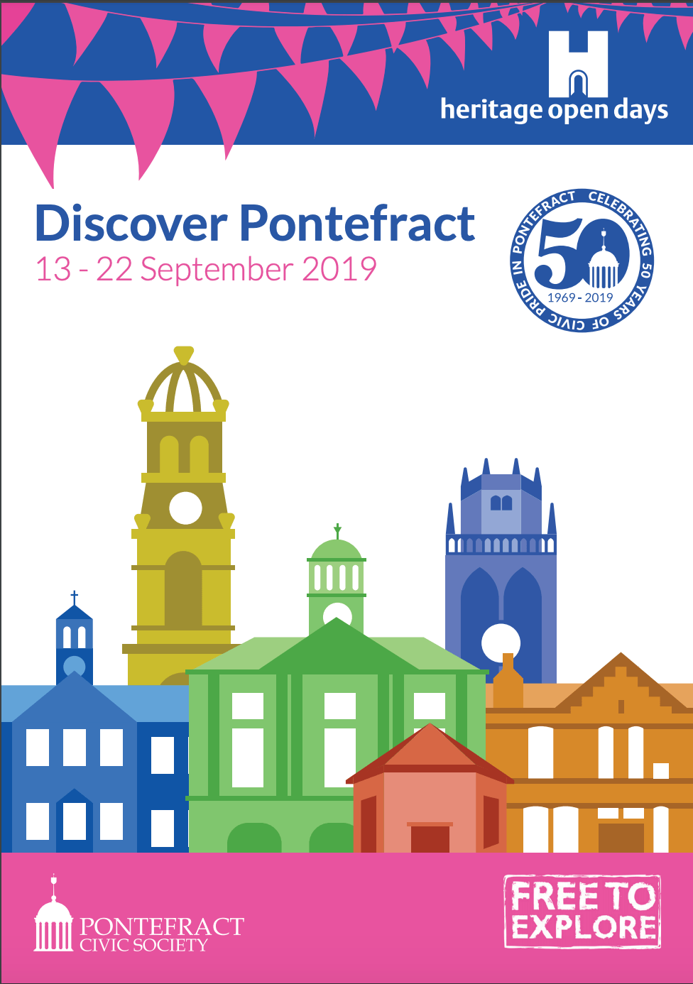 Discover Pontefract Heritage Open Days poster.