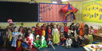 Celebrating World Book Day in Nursery.