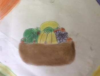 Year 3 Rainforest Fruit Art